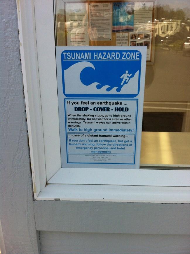 Tsunami Warning in Oregon