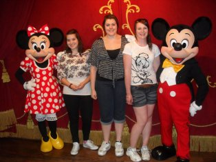 A trip to Disneyland isn't complete without meeting Mickey and Minnie