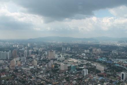 Kuala Lumpur from the Petronas Towers, 2013