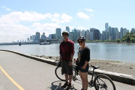 Riding around Stanley park, Vancouver, BC 2014