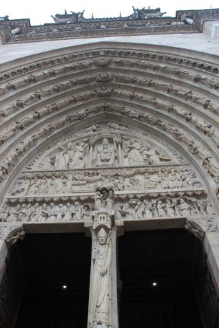 Entry to the Notre Dame Cathedral - 2015
