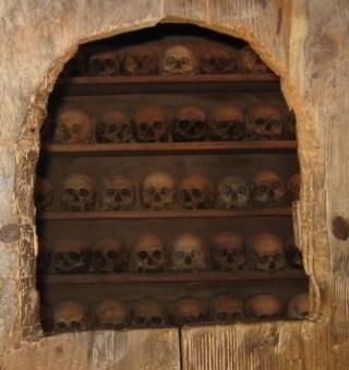 Skulls of past Monks