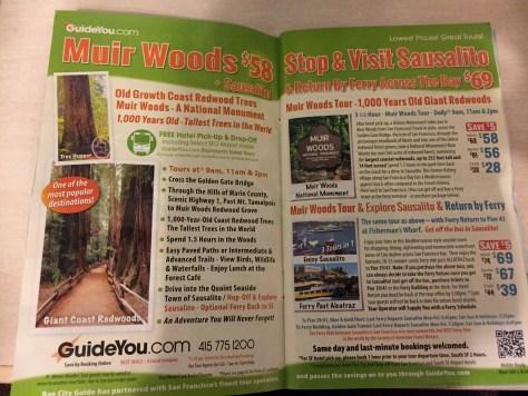 Muir Woods tourのチラシ