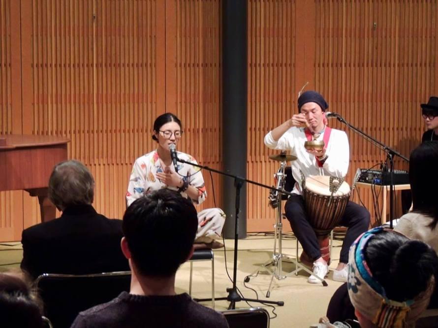 チベット出身、ヒーリングマントラシンガー、ドゥルクモ•ギャル x 大地の種コンサートでした