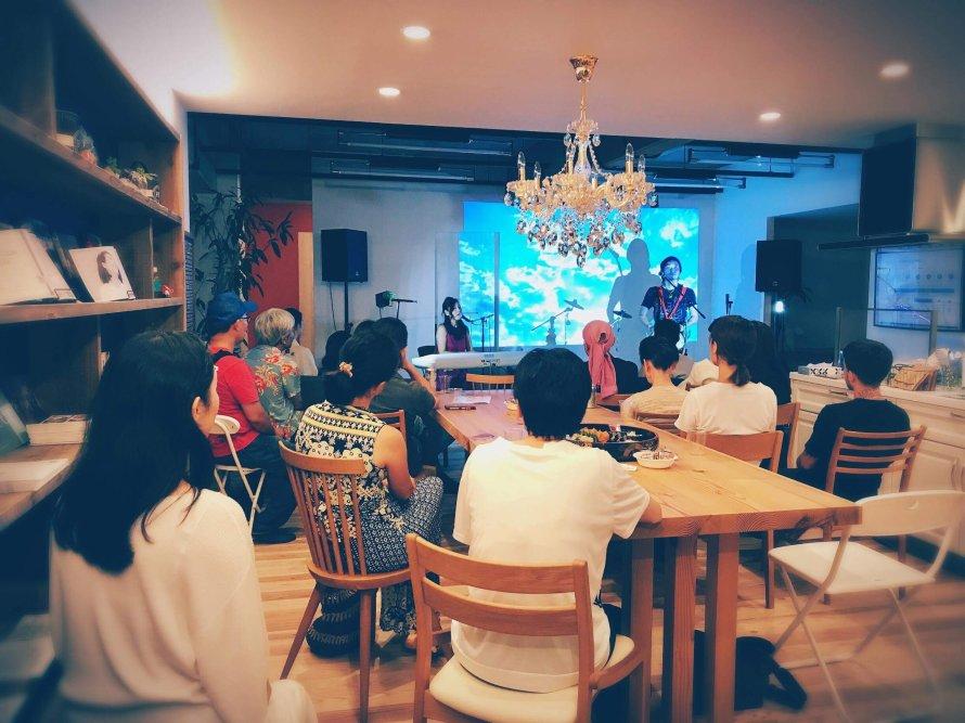 2018年8月25日 帝塚山夢工房×リノベ不動産にて、大地の種・感謝祭