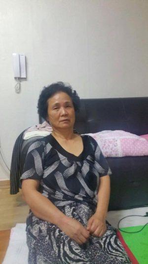 Mea's mother, September 2016