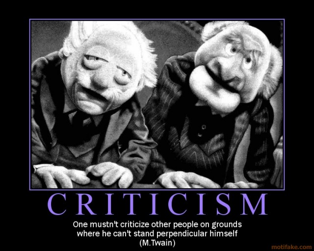 Five ways to deal with criticism, part 3