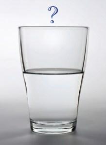 glass half empty and Buddhism