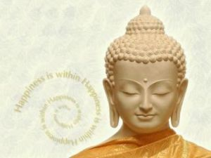 Buddha happiness is within