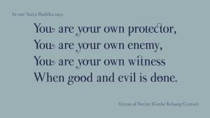 You are your own witness