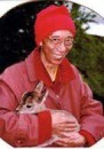 Geshe-la with baby deer