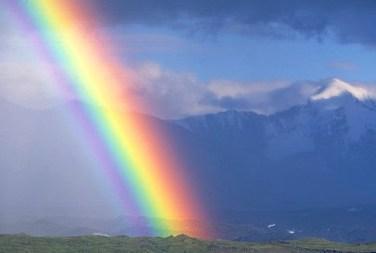 Rainbow over the Muldrow Glacier