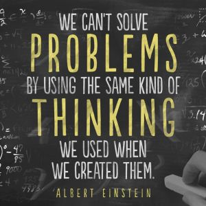 we can't solve problems