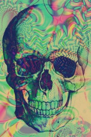 psychedelic skull