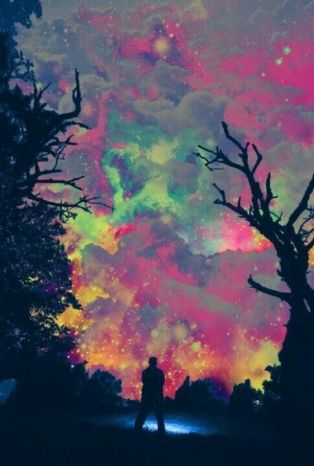 psychedelic sky
