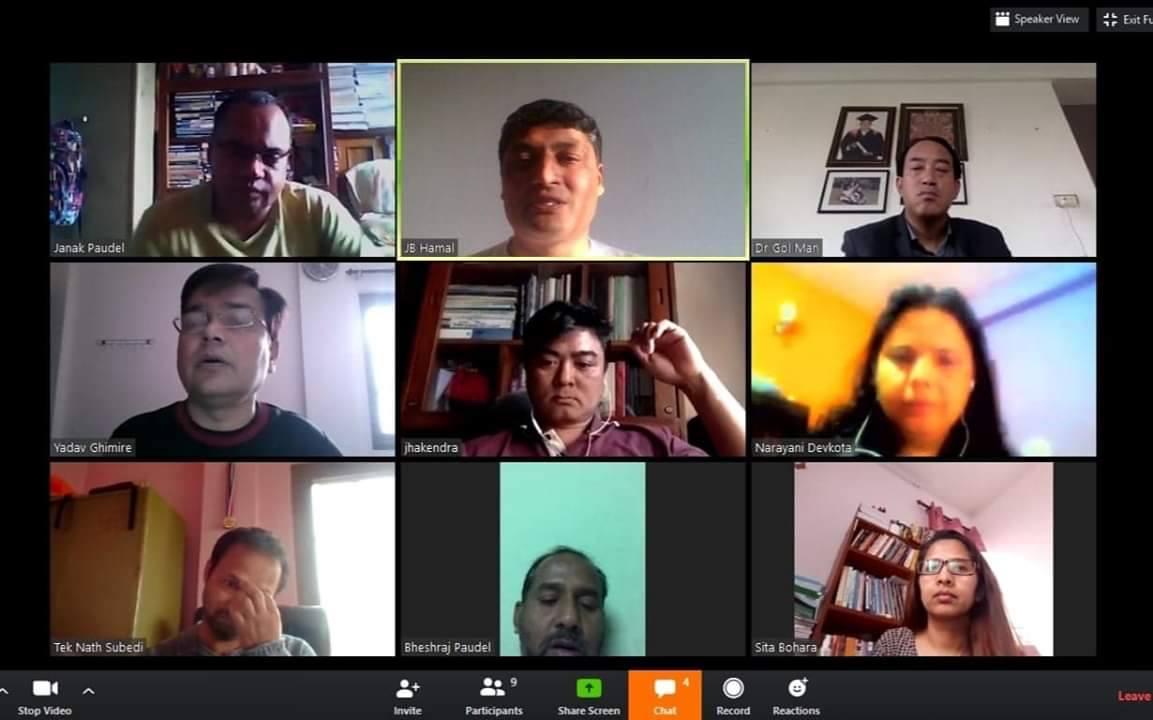 स्नोकोत्तर तहका पठनपाठन सरस्वती अनलाइन कक्षाबाट सञ्चालन हुदै
