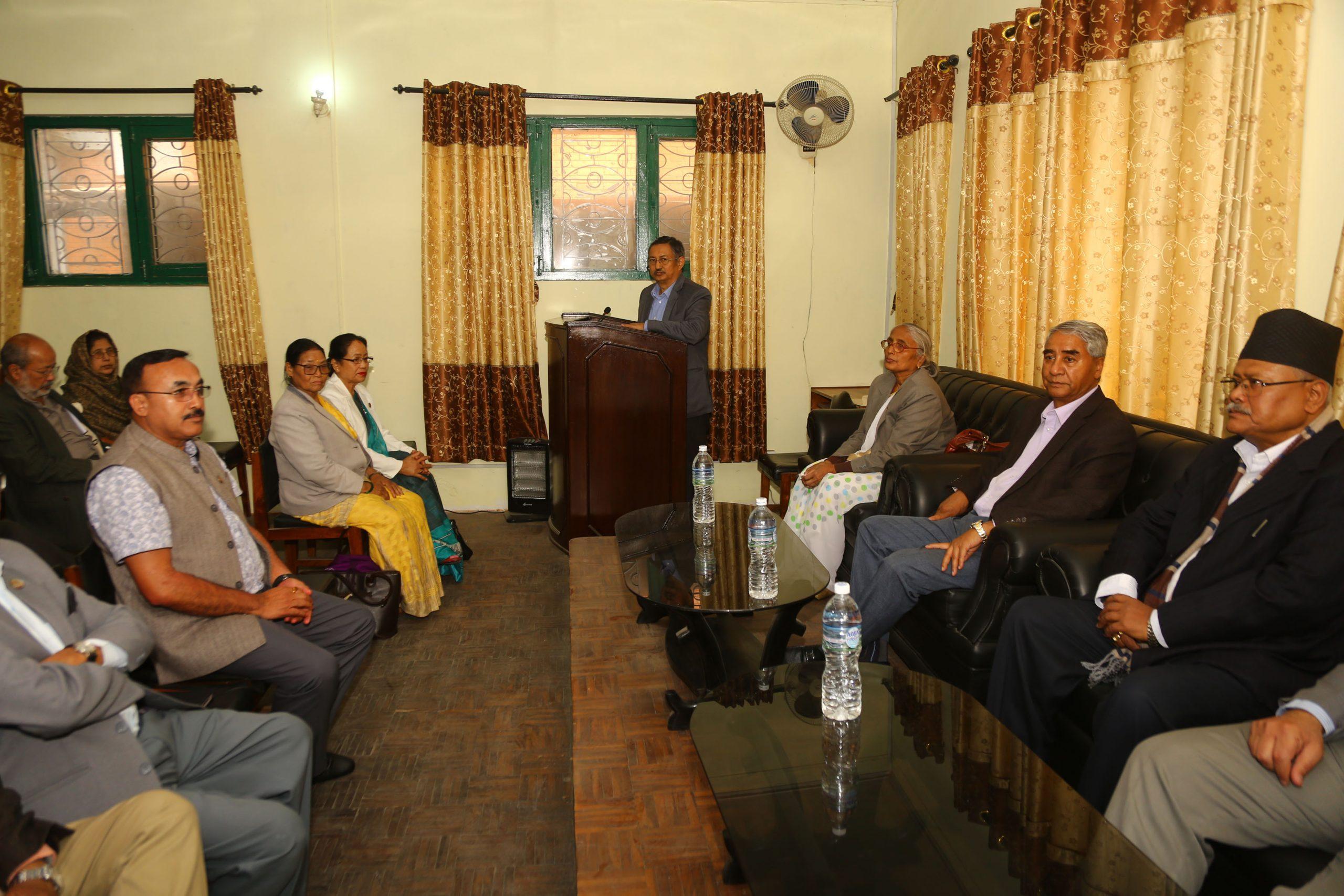 सरकारको नीति तथा कार्यक्रममाथि नेपाली काँग्रेसको संशोधन प्रस्ताव दर्ता