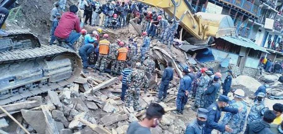 कालिकोटको नाग्म बजारमा पहिरो जाँदा १० को मृत्यु