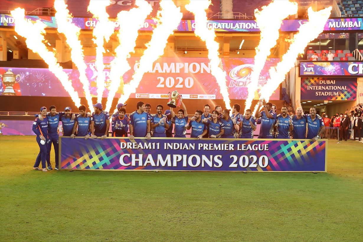 इन्डियन प्रिमियर लिग (आईपीएल) टी२० क्रिकेटको १३औं संस्करणको उपाधि मुम्बई इन्डियन्सको हातमा