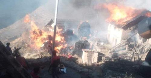 राँचुलीको दलित वस्तिमा आलगाली हुँदा ११ घरधुरी जलेर नष्ट
