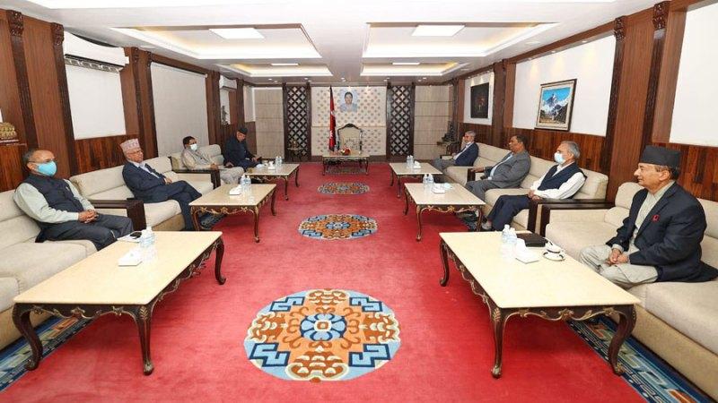 प्रदेश १ र बाग्मती प्रदेशमा गठबन्धन सरकार गठनको गृहकार्य थाल्ने सत्तारुढ दलका शीर्ष नेताहरुको बैठकमा सहमति