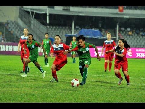 नेपाल र बंगलादेशविरुद्धको पहिलो मैत्रीपूर्ण खेलको पहिलो हाफमा नेपाली महिला टिम २-० को अग्रता