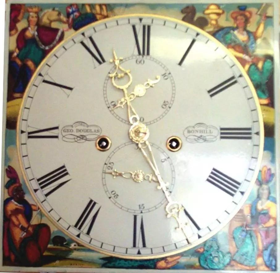 George Douglas of Bonhill clock after restoration