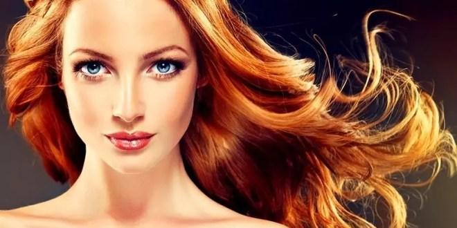 parlak saç rengi için