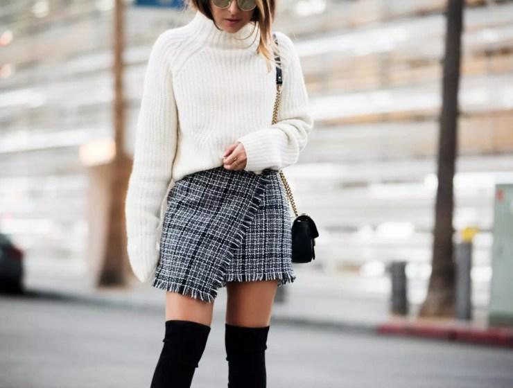 kışın etek nasıl giyilir