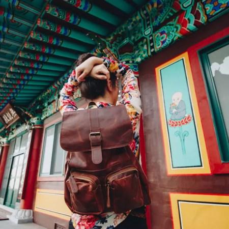 seyahat için sırt çantası