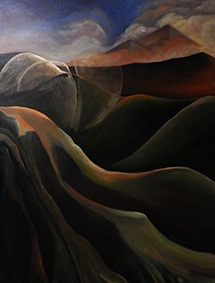 landscapes,contemporary art,kadira jennings,mt-taranaki-III,mt-egmont