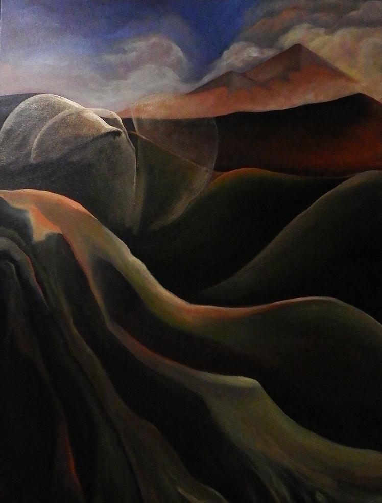 landscapes,contemporary art,kadira jennings,mt-taranaki.mt-egmont