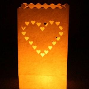 Bruine Candle Bags set 10x stuks