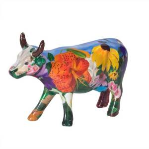 Cow Parade Georgia O'Kowffe (medium ceramic)