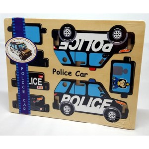 Houten puzzel Politie auto