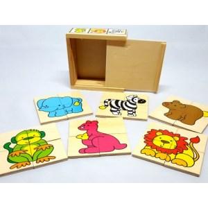 Houten puzzels diverse dieren