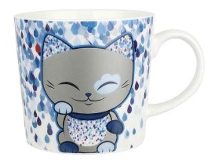Mani the Lucky Cat - Mok blauw