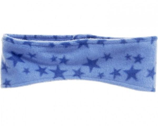 Playshoes hoofdband fleece blauw met sterren junior 49-55 cm