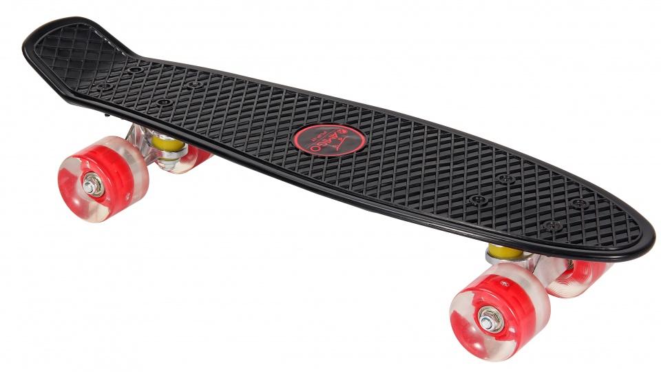 AMIGO skateboard met ledverlichting 55,5 cm zwart/rood