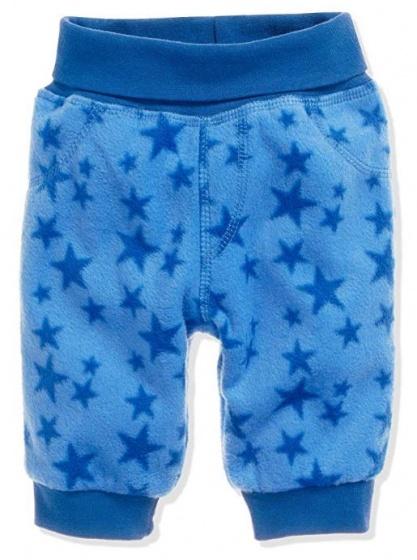Schnizler broek Sterren junior polyester blauw maat 68