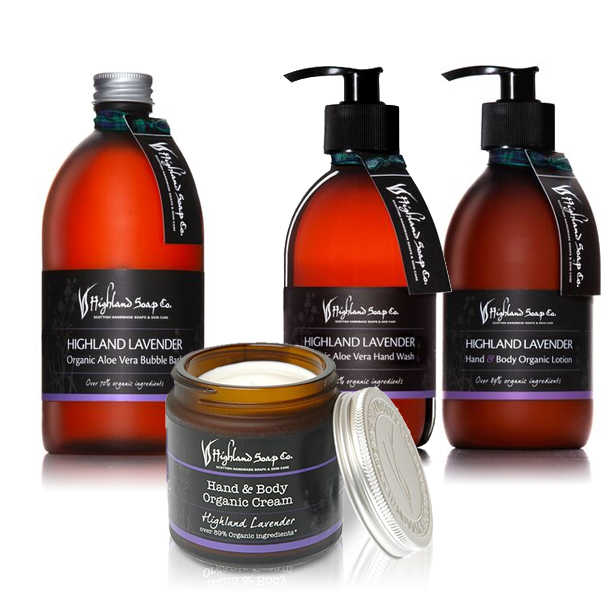 Highland Soap Co. Hand & Body Lotion Highland Lavendel 300ml, pomp