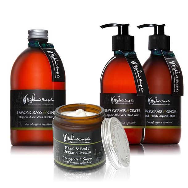 Highland Soap Co. Body Cream Citroengras / Gember 120ml, bio