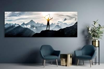 Foto op aluminium 30x80 cm