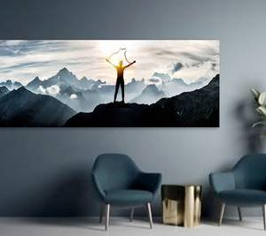 Foto op aluminium 40x80 cm