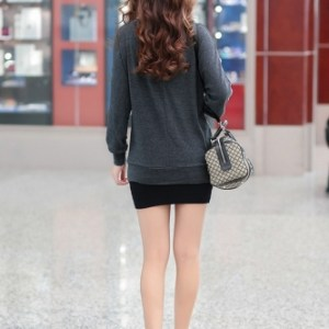New Fashion Women T-shirt Button O-Neck Batwing Sleeve Casual Large Size Bottoming Shirt