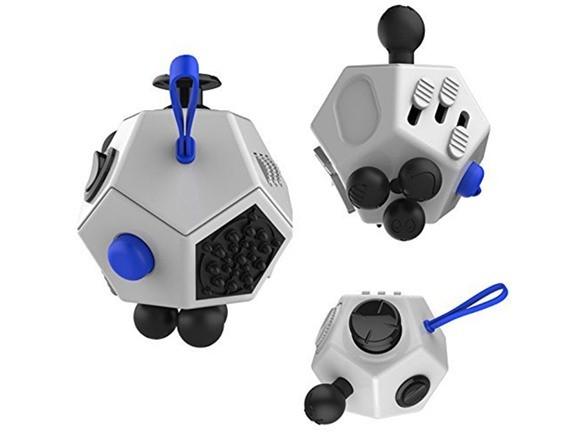 Fidget Cube XL - Wit/Blauw