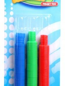 TOM fidgetspel Pop Tubes 15 - 45 cm blauw/groen/rood 3 stuks