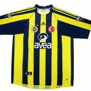 Fenerbahce Shirt Thuis Gedragen door van Hooijdonk 2004-2005 - Maat One Size - Kleur: Blauw | Soccerfanshop