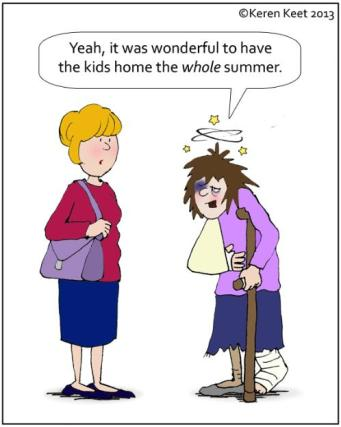 Summer Camp cartoon pic of mother