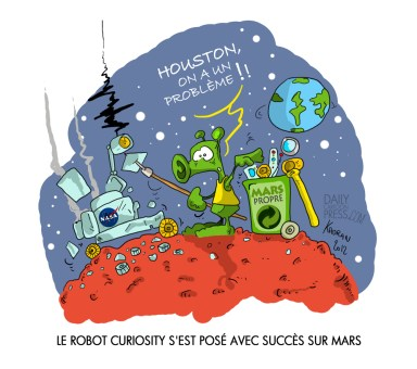 Il y a de la vie sur Mars !